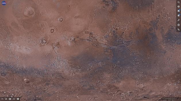Mars NASA mapa