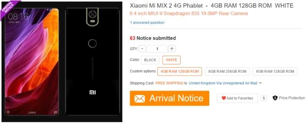 Xiaomi Mi MIX 2 specyfikacja sklep