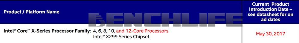 Intel X299 - data premiery