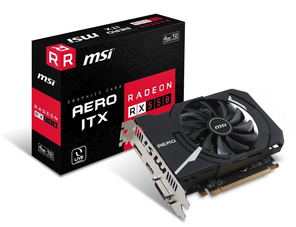 MSI Radeon RX 550 AERO ITX 4G