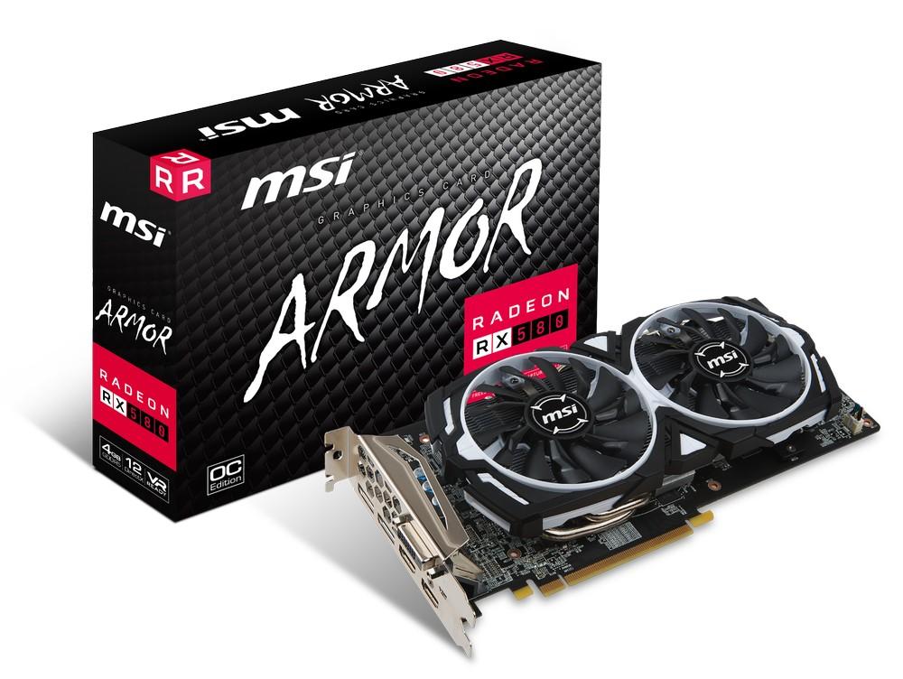 MSI Radeon RX 580 Armor OC 4G