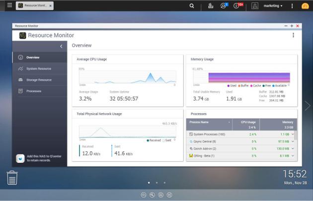QTS 4.3.3 monitor zasobów