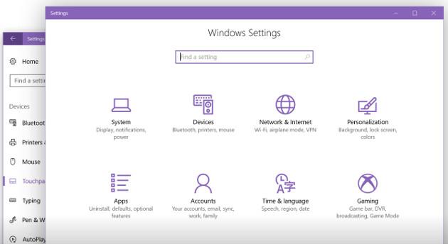 Windows 10 Creators Update Ustawienia