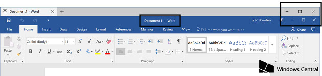 Windows 10 karty Word