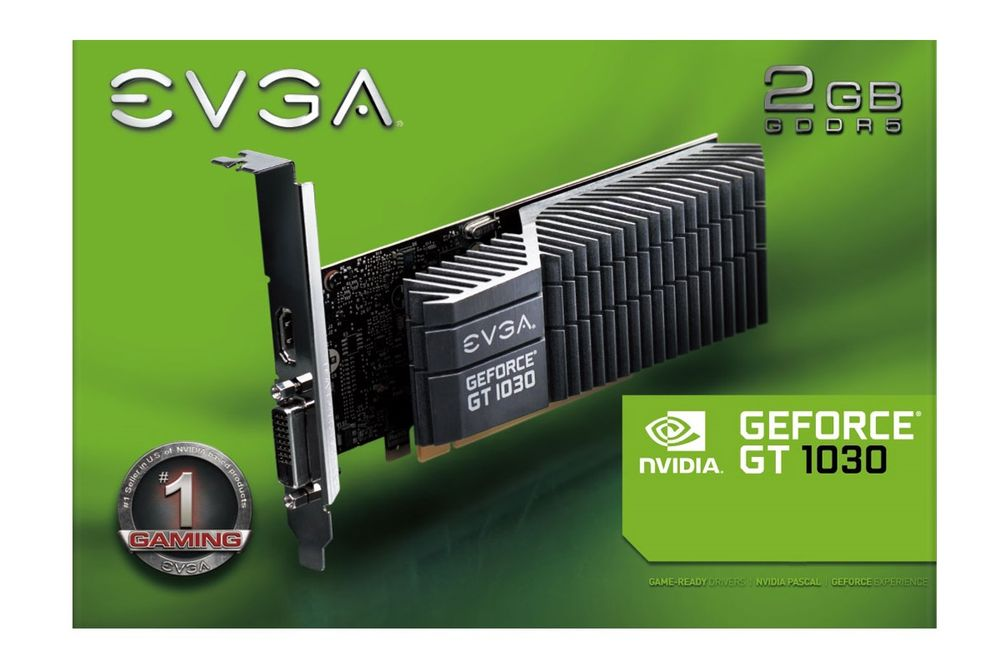 EVGA GeForce GT 1030 SC Passive Low Profile