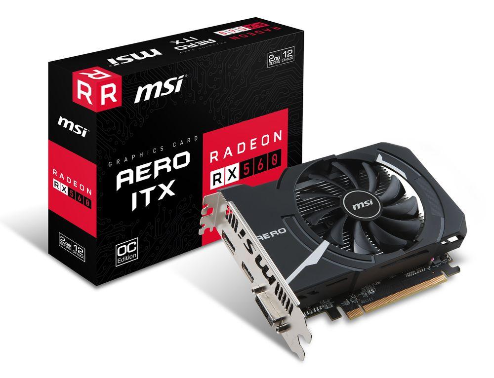 MSI Radeon RX 560 Aero ITX 2G OC