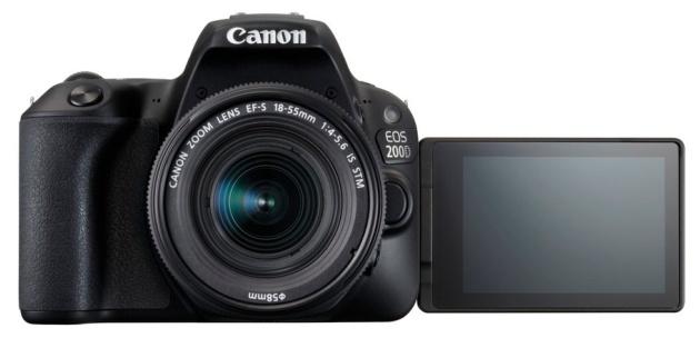 Canon EOS 200D przód LCD