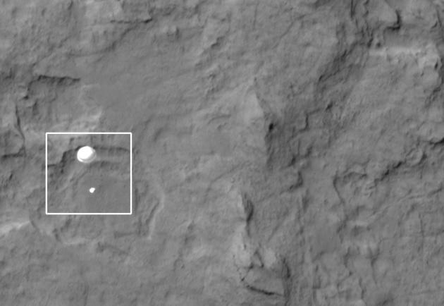 Curiosity spadochron