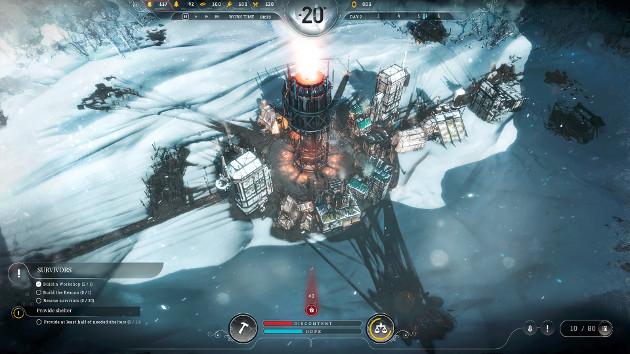 Frostpunk gra screen miasto