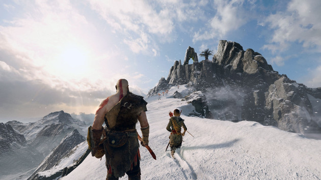 God of War gra screen bieg