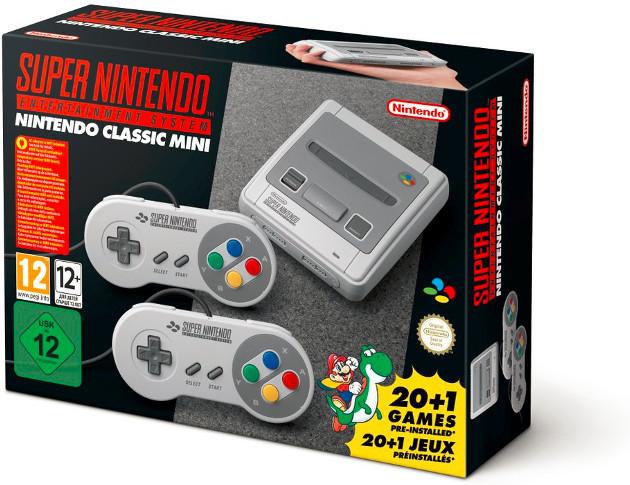 Nintendo SNES Mini konsola pudełko