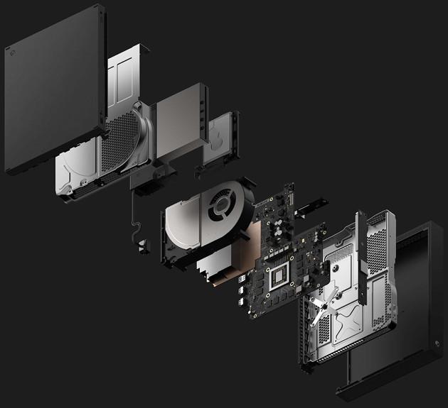 Xbox One X wnętrze