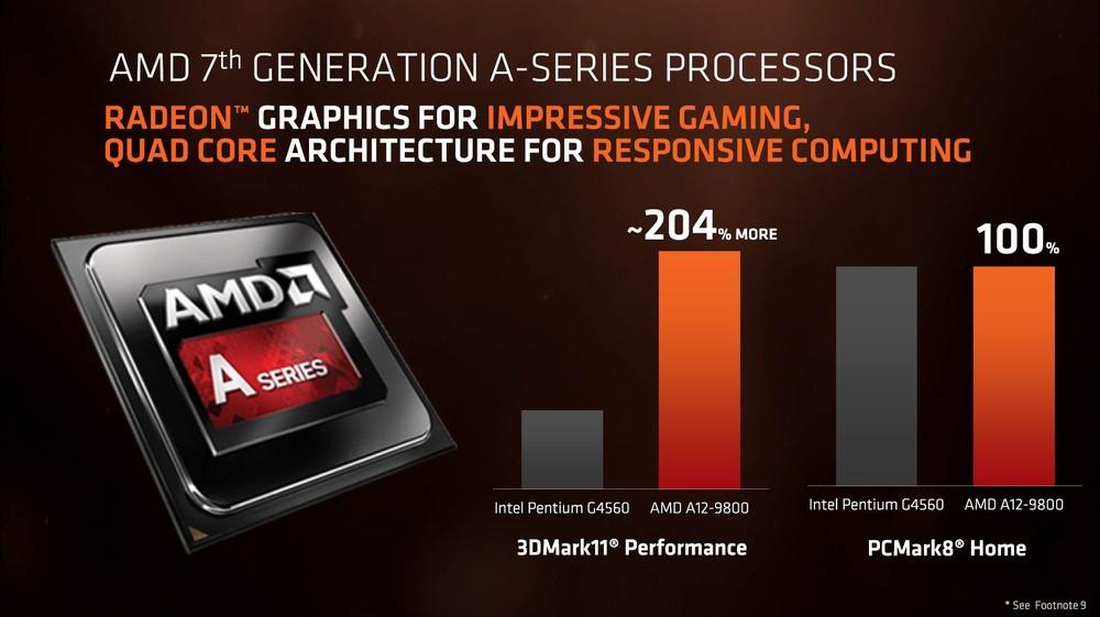AMD A12-9800 vs Intel Pentium G4560