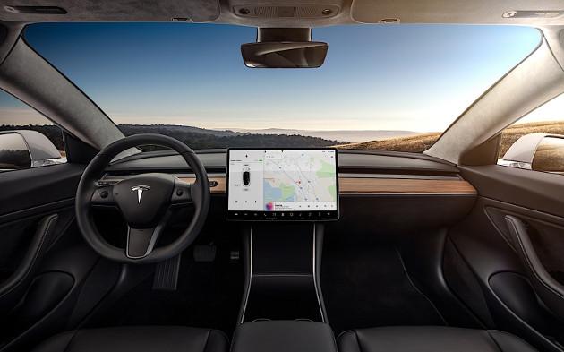 Tesla Model 3 tablet