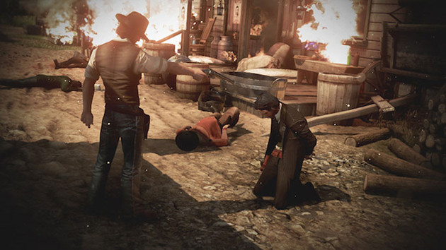 Wild West Online gra screen broń