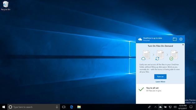 Windows 10 Fall pliki na żądanie