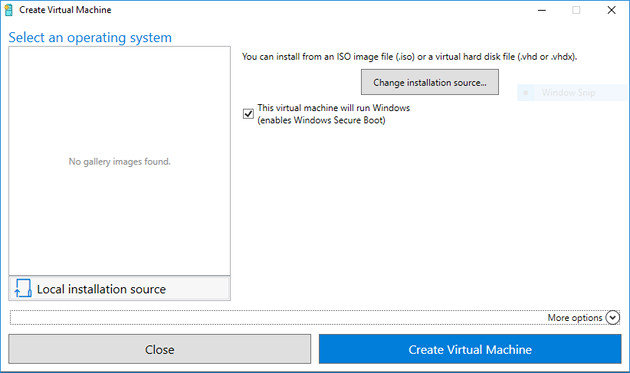 Windows 10 Fall VM