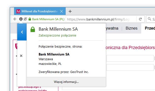 bezpieczne logowanie do banku - sprawdzanie certyfikatu