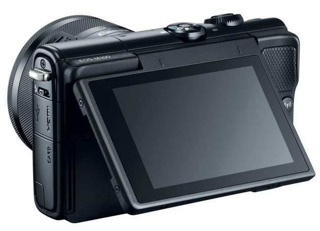 Canon EOS M100 tył bok