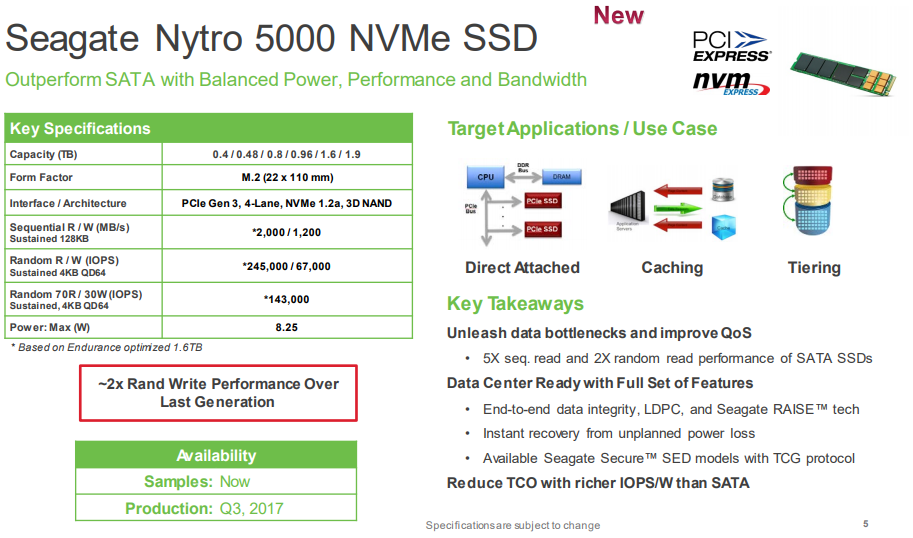 Seagate Nytro 5000 NVMe SSD