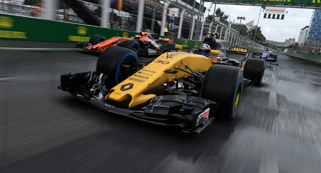 F1 2017 screen deszcz