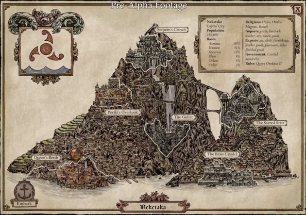 Pillars of Eternity 2 Neketaka mapa