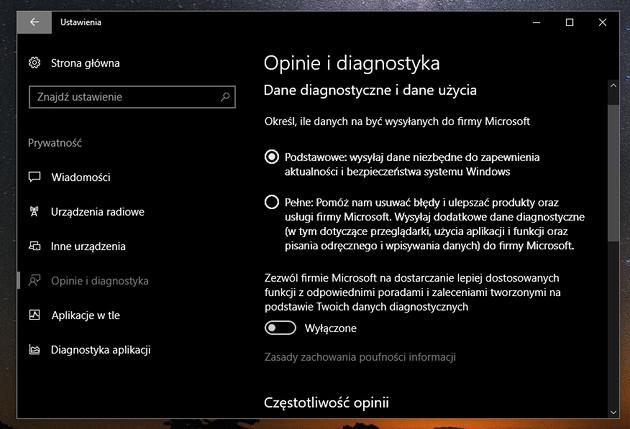 Windows 10 prywatność