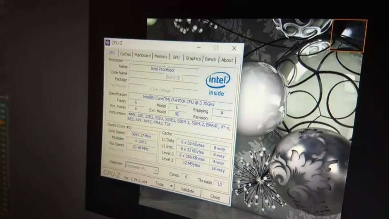Intel Core i7-8700K - CPU-Z