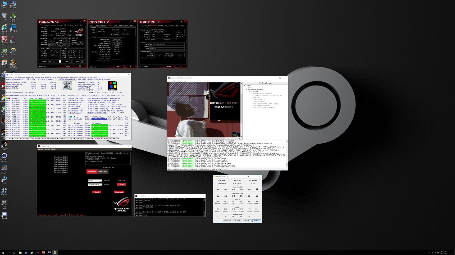 Intel Core i9-7920X - temperatury