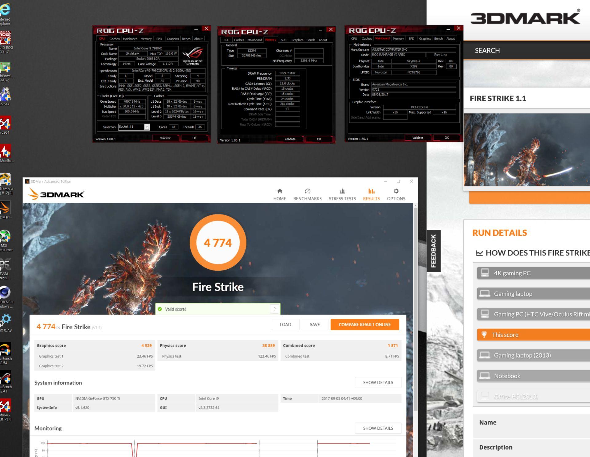 Intel Core i9-7980XE - wydajność 3DMark Fire Strike
