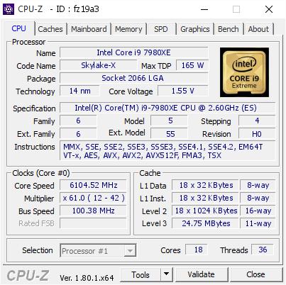 Intel Core i9-7980XE - podkręcanie