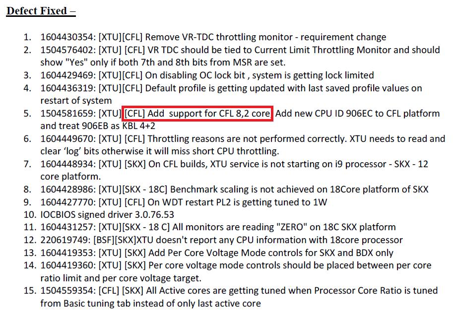 Intel XTU - poprawki