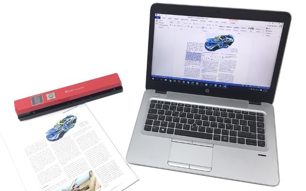 IRIScan Anywhere 5 laptop