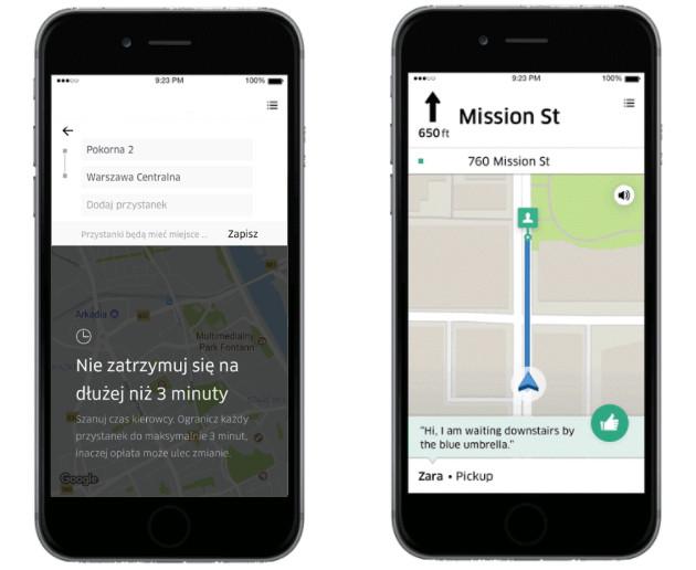 Uber nowe funkcje
