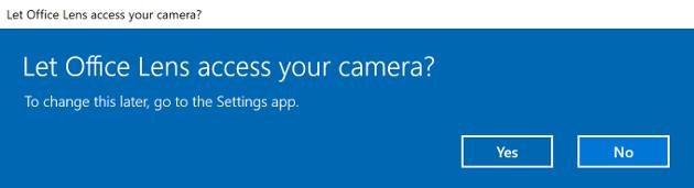 Windows 10 kamera komunikat