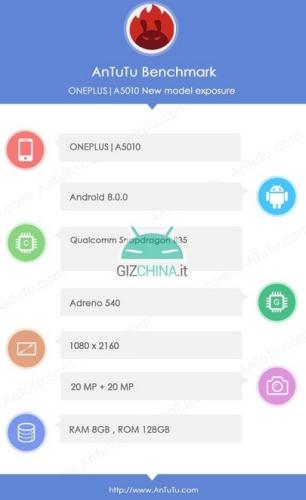 OnePlus 5T specyfikacja
