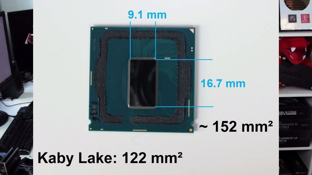 Intel Core i7-8700K - delidding