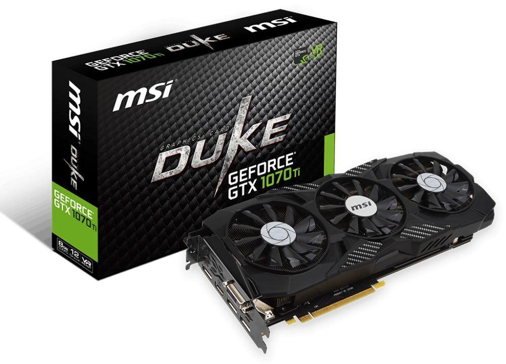 MSI GeForce GTX 1070 Ti DUKE 8G