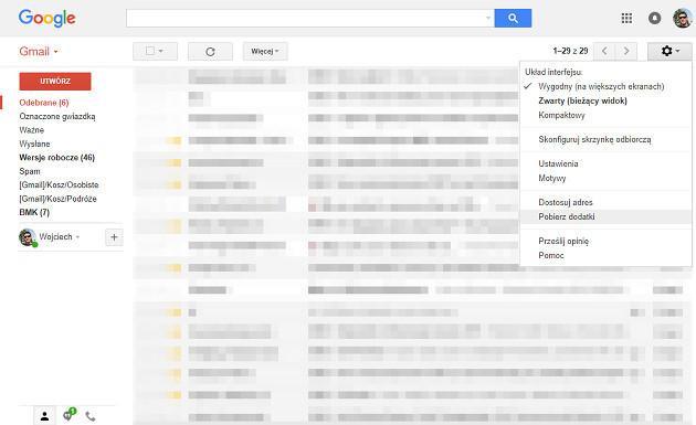 Gmail dodatki pobierz