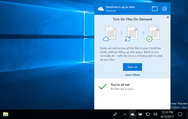 Windows 10 OneDrive
