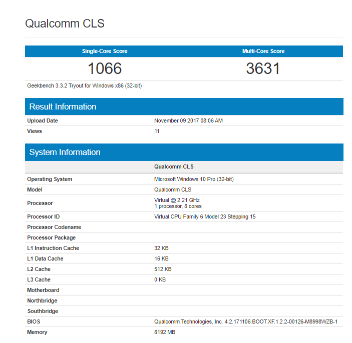 HP Qualcomm CLS