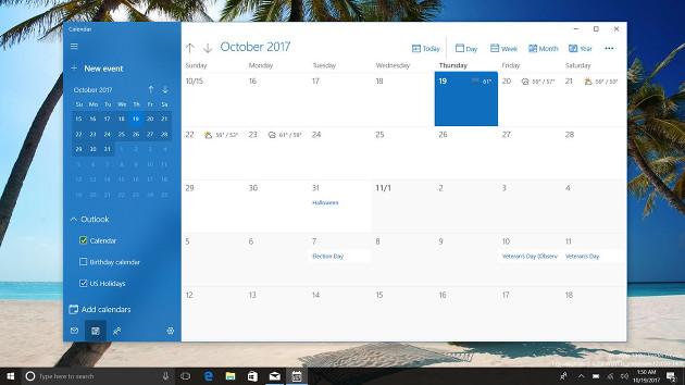 Fluent kalendarz