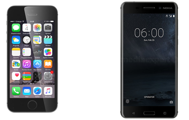 iPhone 5s i Nokia 6