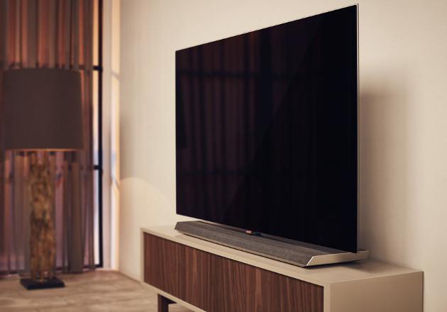 Philips OLED 973 telewizor bok