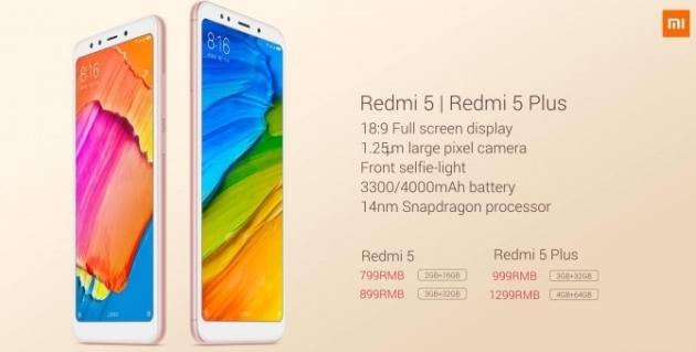 Redmi 5 i Redmi 5 Plus ceny