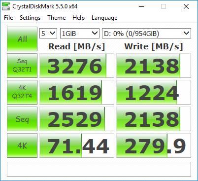 Plextor M9Pe - wydajność CrystalDiskMark