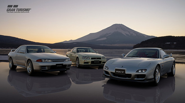 GT Sport auta Mazda RX-7 Spirit R Type A oraz Nissan Skyline GT-R V