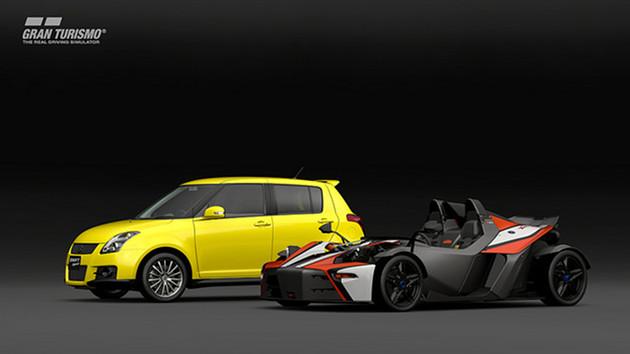 GT Sport auta Suzuki Swift Sport i KTM X-BOW R