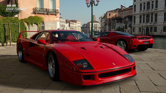 GT Sport auta Ferrari F40 oraz Ferrari Enzo Ferrari