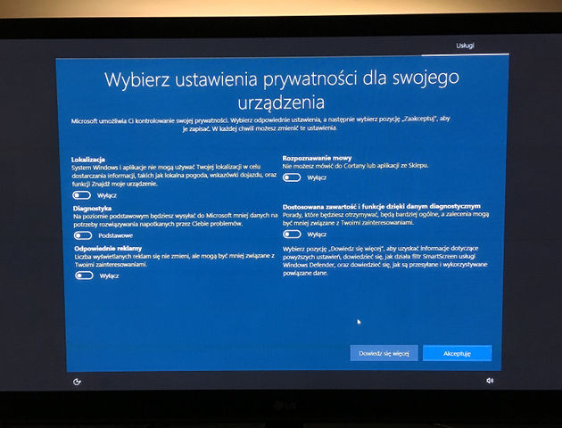 Windows 10 zresetowanie ustawien po aktualizacji